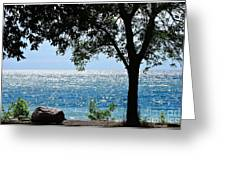 Beautiful Morning On The Lake Greeting Card