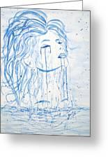 Beautiful Sea Woman Watercolor Painting Greeting Card by Georgeta  Blanaru