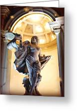 Beautiful Statues Of The Monte Carlo Hotel And Casino Greeting Card