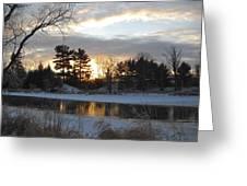 Beautiful Winter Dawn Greeting Card