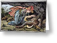 Beauty & The Beast, 1891 Greeting Card