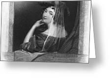 Beauty In Gondola, 1842 Greeting Card