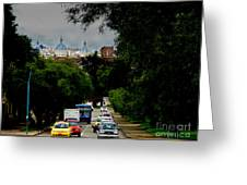 Beauty Of Avenida Solano In Cuenca Greeting Card