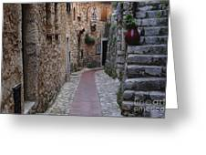 Beauty Of Eze France Greeting Card