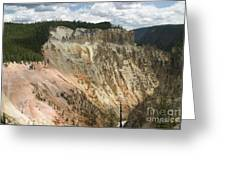 Beauty Of The Grand Canyon In Yellowstone Greeting Card
