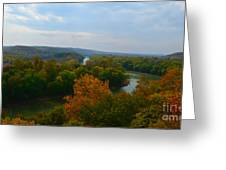 Beauty On The Bluffs Autumn Colors Greeting Card