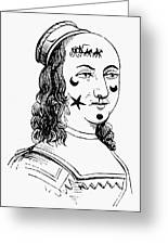 Beauty Spots, 17th Century Greeting Card