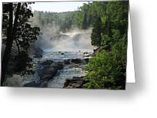 Beaver River In The Fog 2 Greeting Card