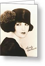 Bebe Daniels 1925 Greeting Card