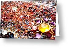 Bed Of Sequins Greeting Card