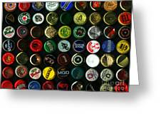 Beer Bottle Caps . 9 To 12 Proportion Greeting Card