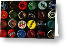 Beer Bottle Caps . 3 To 1 Proportion Greeting Card by Wingsdomain Art and Photography