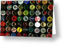 Beer Bottle Caps . 8 To 10 Proportion Greeting Card by Wingsdomain Art and Photography