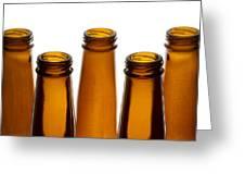 Beer Bottles 1 A Greeting Card