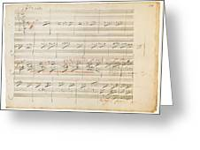 Beethoven Manuscript, 1806 Greeting Card by Granger