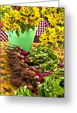 Beets And Sunflowers Greeting Card