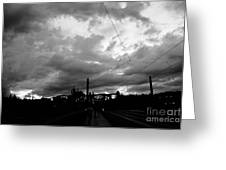 Before Rain In Prague Greeting Card
