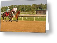 Before The Race Greeting Card