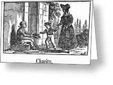 Beggar, C1830 Greeting Card