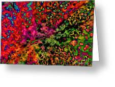 Begonia Leaf On Acid Greeting Card