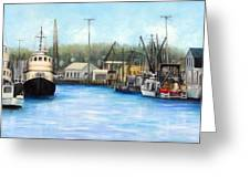 Belford Fishing Seaport Nj Greeting Card