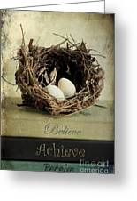 Believe Achieve Receive Greeting Card