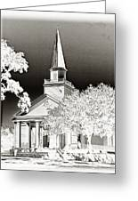 Belin Umc Black And White Sabattier Greeting Card