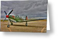 Bell P-63 Kingcobra Greeting Card