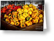 Bell Peppers Greeting Card by Robert Bales