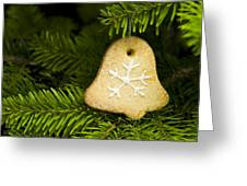 Bell Shape Short Bread Cookie Greeting Card
