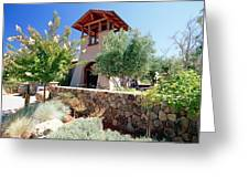 Bell Tower Of St Francis Winery Greeting Card by George Oze