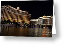 Bellagio And Ceasars Greeting Card