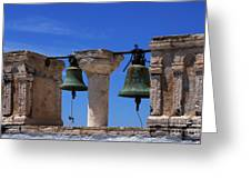 Bells Of Santorini Greece Greeting Card