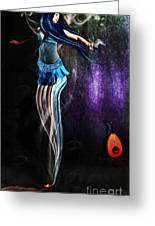 Belly Dance Genie Greeting Card by Vidka Art