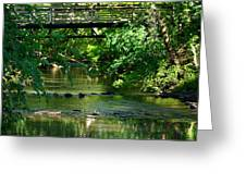 Below The Bridge Is Another World Greeting Card