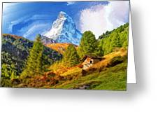 Below The Matterhorn Greeting Card