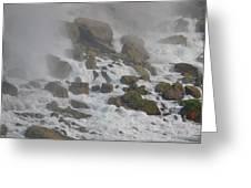 Below The Waterfall Greeting Card by Naomi Berhane