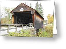 Bement Covered Bridge Greeting Card