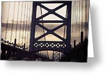 Ben Franklin Bridge Greeting Card