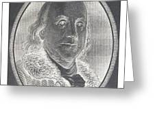 Ben Franklin In Negative Greeting Card