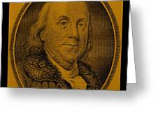 Ben Franklin In Orange Greeting Card