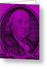 Ben Franklin In Purple Greeting Card