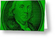 Ben Franklin Ingreen Greeting Card