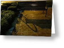 Bench And Shadow Greeting Card