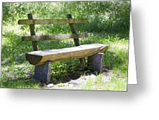Bench Made Of Wood Greeting Card