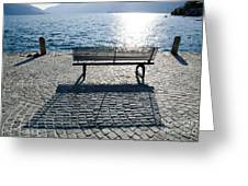 Bench With Shadow Greeting Card