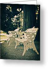 Benches Greeting Card by Joana Kruse