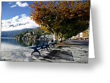 Benches With Shadow Greeting Card
