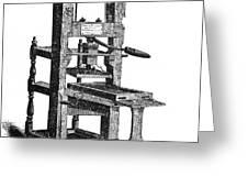Benjamin Franklins Printing Press Greeting Card