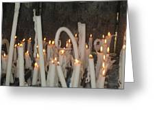 Bent Rememberance Candle Greeting Card